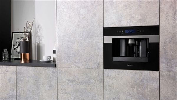 Hotpoint CM 9945 HA - Cafetera integrable negro e inox LCD 595 x 372 mm