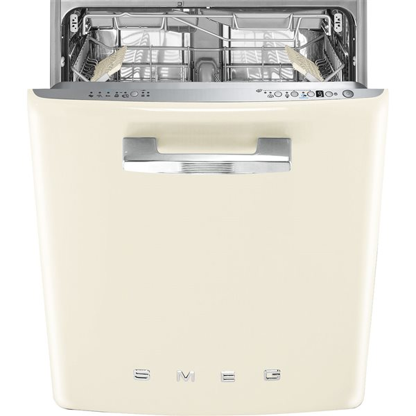 Smeg ST2FABCR2 - Lavavajillas integrable Años 50 de 60cm Color Crema