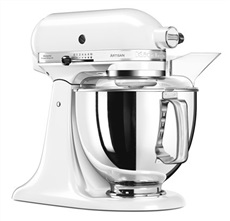 Kitchen Aid 5KSM175 PS EWH - Robot Artisan Color Blanco 4.8L 7 Accesorios