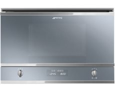 Smeg MP422S - Microondas Integrable 22 Litros Grill Silver Glass