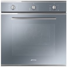 Smeg SF64M3VS - Horno Multifunción 60 Cm Clase A Ever Clean Silver Glass