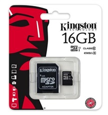 Tarjeta de memoria Kingston SDC10G2 16GB Micro SD HC Clase 10 16GB